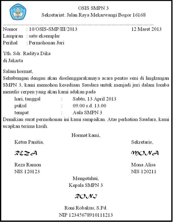 Menulis Surat Dinas Dengan Bahasa Baku Dan Sistematika